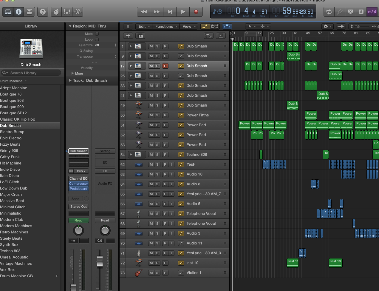 """Remix! Attacking Dubstep at Midnight"""" (Final Project"""